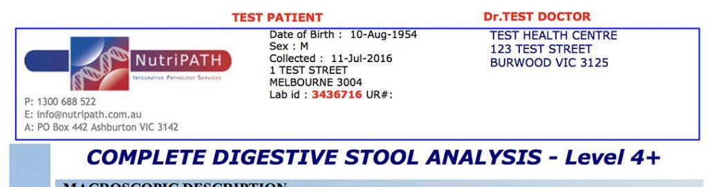complete digestive stool analysis nutripath CDSA cost