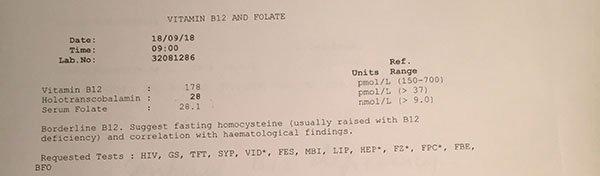 vitamin B12 deficiency blastocystis hominis